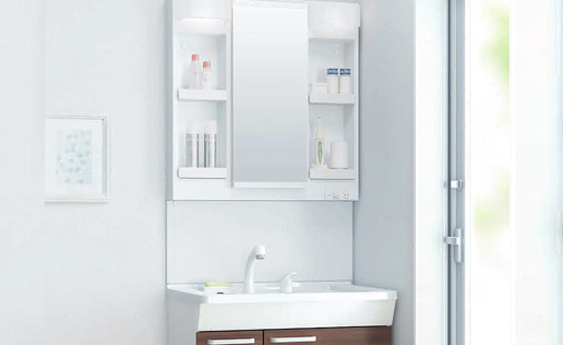 LIXILの洗面化粧台 オフト W750