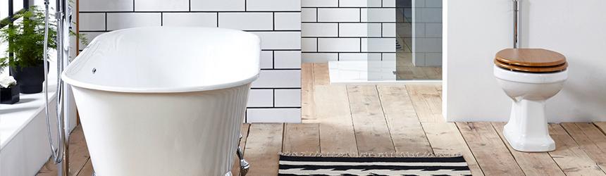 お風呂とトイレが並ぶおしゃれな浴室