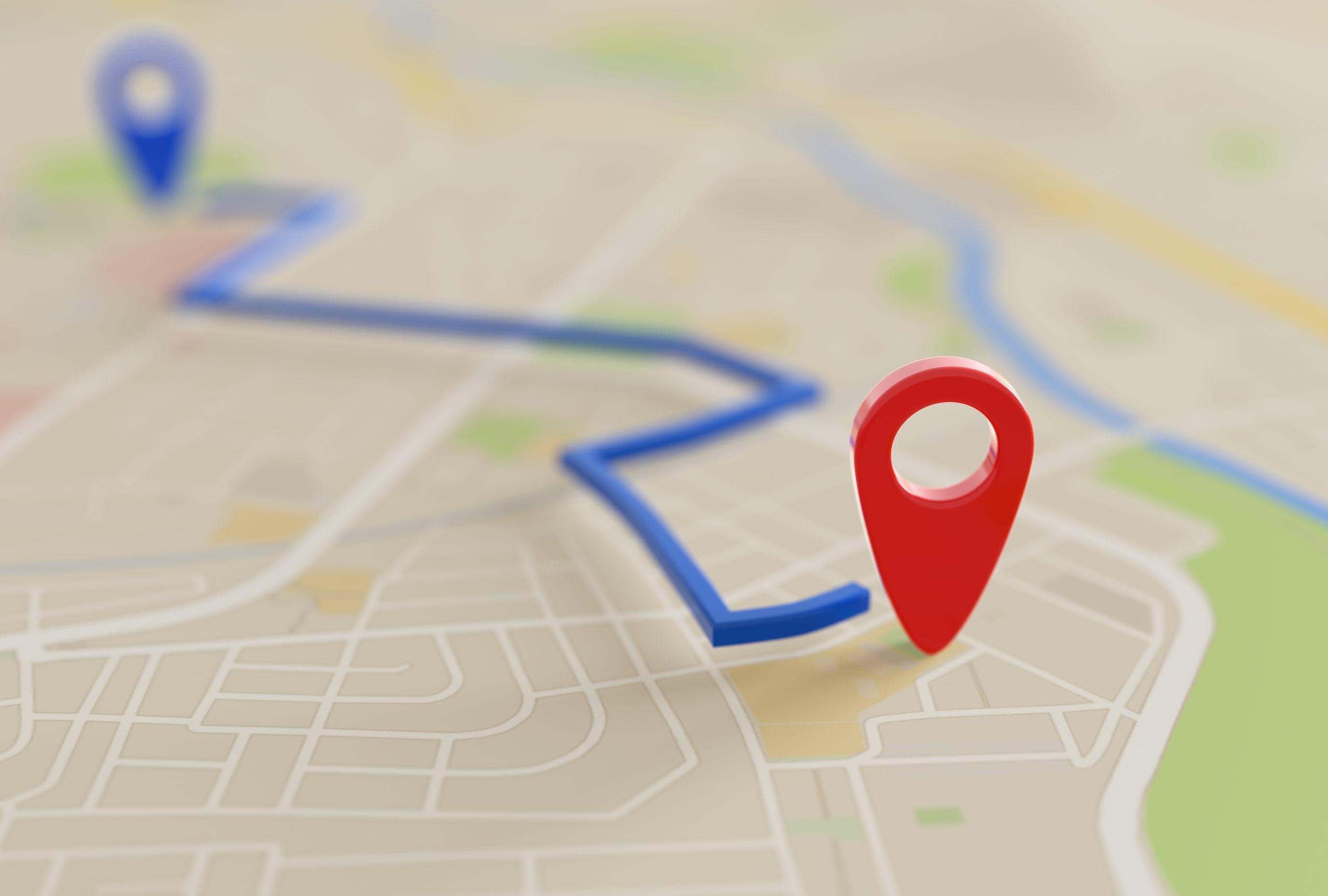 地図を表すイメージが画像
